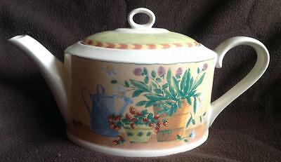 Delightful pottery teapot Gardening / Gardners Theme Pot Plants Watering Can
