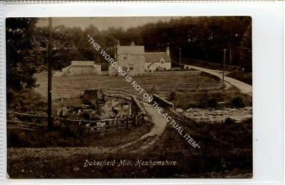 (Gb1366-483) Real Photo of Dukesfield Mill, Hexham c1910 VG