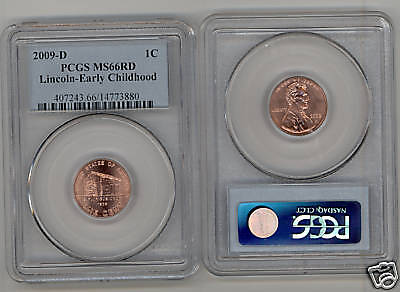 2009-D  PCGS MS66 RD LINCOLN CENT  Early Childhood