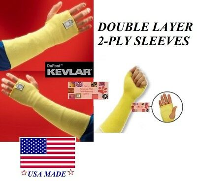 Animal Handling 2-PLY SLEEVES Made With KEVLAR Grooming Bath Arm Hand Protection