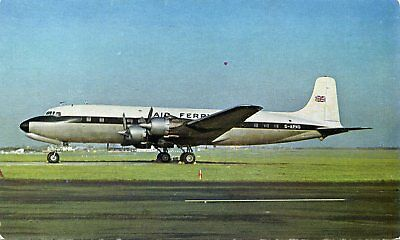 Air Ferry - Douglas Dc-6 - Airline Issue Postcard