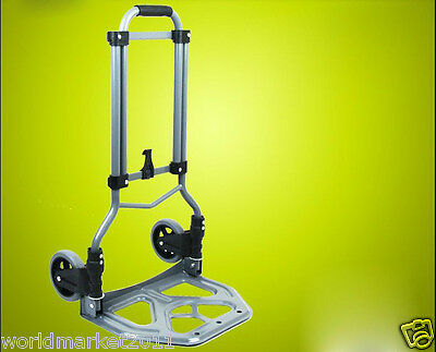 New Convenient Portable Two Wheels Collapsible Shopping Luggage Trolleys A