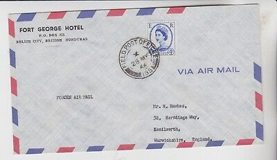 Gb Stamps 1966 Field Post Office Envelope British Honduras Rares Collection