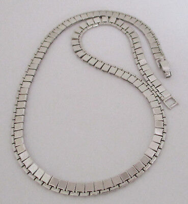 Vintage Silvertone Chain Necklace Monet
