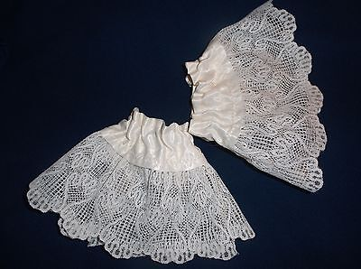 Victorian Elizabethan Antique Illusion Lace Cuffs Steampunk Dickens IVORY
