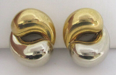Vintage 18K White/Yellow Gold Earrings 750 21.8g