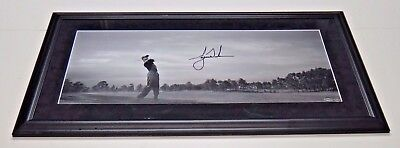 Tiger Woods Signed Autograph Framed 12x30 Panoramic Photo Upper Deck COA