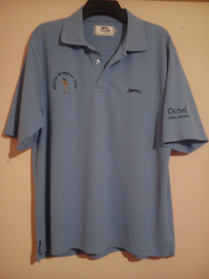 Melton Mowbray 2009 Octel Golf Society Slazenger Light Blue Polo Shirt Xl Vgc