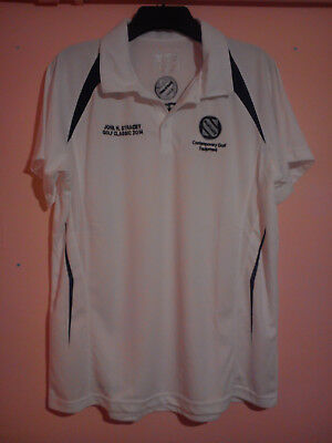 John H Stracey Golf Classic 2014 White Polo Shirt Size Xl Extra Large Smartcaddy