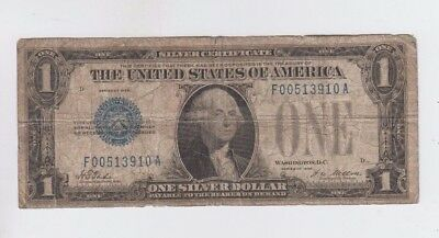Silver Certificate $1 1928  Funny Back low grade