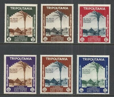 Tripolitania  Scott 73 - 78 Mh Vf Set - 1934 Intl Colonial Exposition Issue  (A)