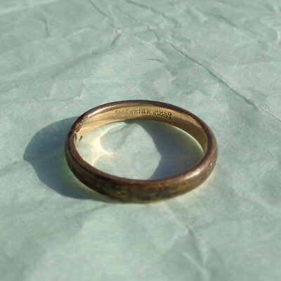 RARE OSTBY BARTON 14k GOLD SHELL WEDDING BAND RING TITANIC CONNECTION NOT SCRAP