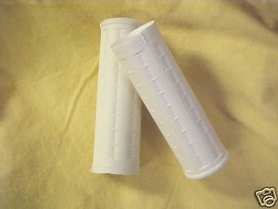 Harley FL, FLH  62-72  White  waffle pattern Grips, 1 1/8 inch bothe sides **