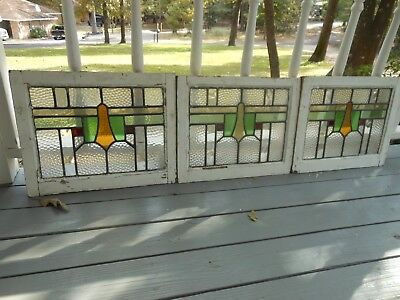 MA-175 Lovely Older Leaded Stained Glass Window From England 3 Available