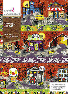 Anita Goodesign Embroidery Machine Design CD HAUNTED VILLAGE - NEW (HALLOWEEN)