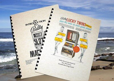 *2* Bally ELECTROMECHANICAL Slot Machine Introduction & TROUBLESHOOTING  manuals