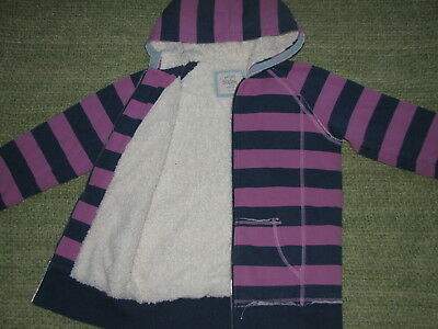 MINI BODEN Awesome Sherpa Lined Stripe Zip Hoodie Sweatshirt Girls 13-14 Y