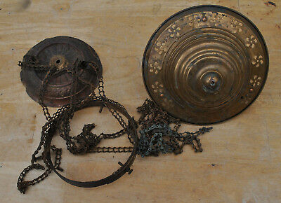 Antique Hanging Oil Hall Lamp Hardware