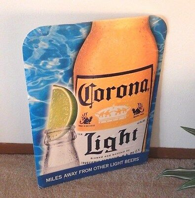 1999 CORONA LIGHT Retailer Standee Display Sign (Cardboard)