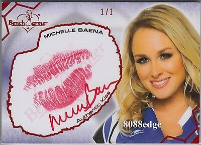 2012 Benchwarmer Soccer Kiss Auto:michelle Baena #1/1 Of Autograph Playboy Cover
