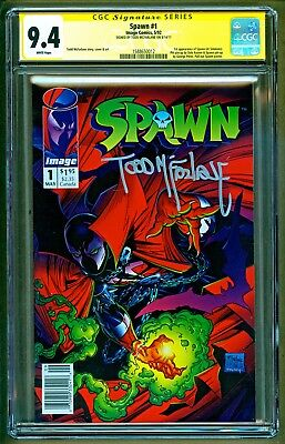 Spawn #1 (1992 Image Comics) Newsstand Variant Signed Todd McFarlane SS CGC 9.4