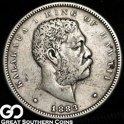 1883 Kingdom of Hawaii Half Dollar, Scarce Type