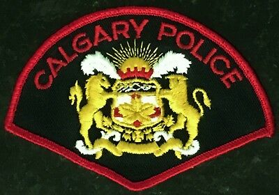 Calgary City Police - Alberta - Canada - Old Red Border Patch - 1970's & 80's