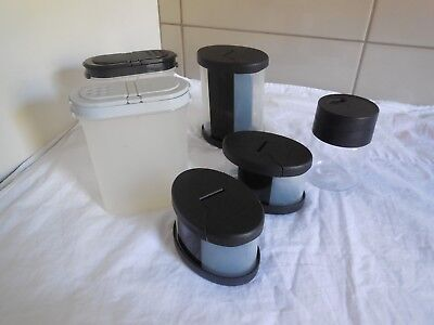 Tupperware Spice Containers Large & Small Mixed Lids X 6