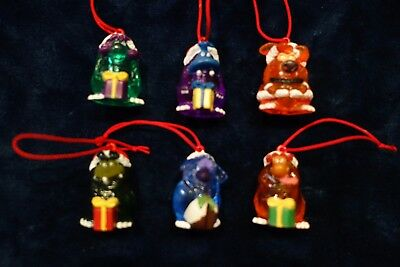 Yowies 2000 Christmas/Xmas Limited Set of Yowie Men (6) with Red Cord & Papers