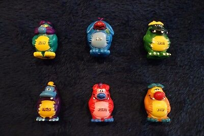 Yowies 1990s Original Series 1 Set of Yowie Men (6) with Papers