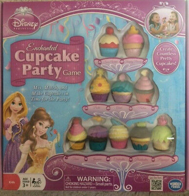 Wonder Forge Disney Princess Enchanted Cupcake Party Game Ages 3+ Complete