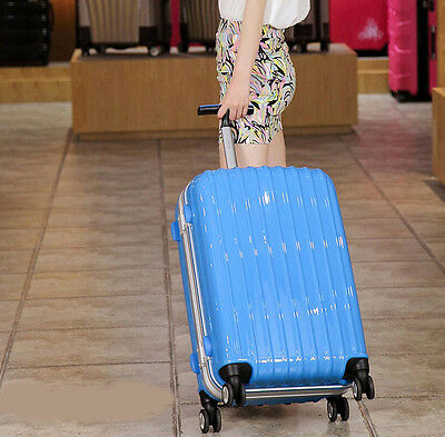 """28"""" Blue ABS+PC Universal Wheel Password Travel Suitcase / Trolley luggage."""