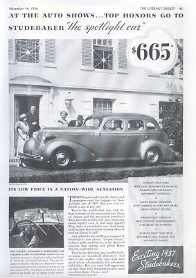 At the Auto Shows top honors go to Studebaker ad 1937
