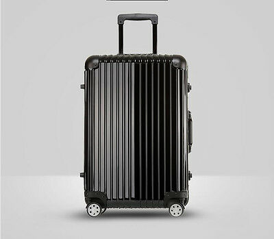 """24"""" Black PC+ABS Universal Wheel Password Travel Suitcase/Trolley luggage."""