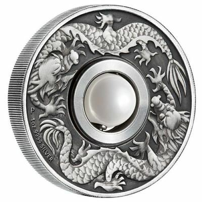 1oz Australien Mystic Dragon&Pearl 1$ AF 2017 with Box and CoA