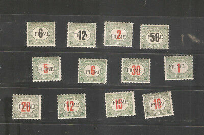 lot 0128           Hungary MH tax hinged Fiume selection