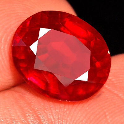 7.3CT Natural Mozambique Blood Red Ruby Faceted Cut QHB459