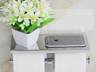 A28 Wall Mounted Tissue Roll Stand Toilet Paper Holder Bathroom Rack Box