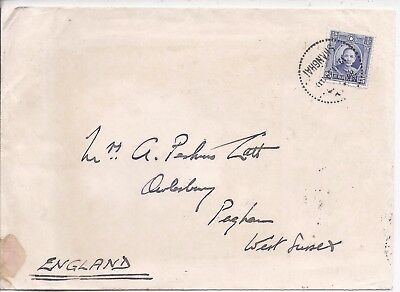 China 1933 cover Shanghai to UK with letter from Shanghai Volunteer Corps
