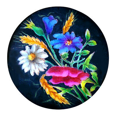 Stud---Fine Mixtion Hand Painted Transfer of Flowers & Foliage on Porcelain