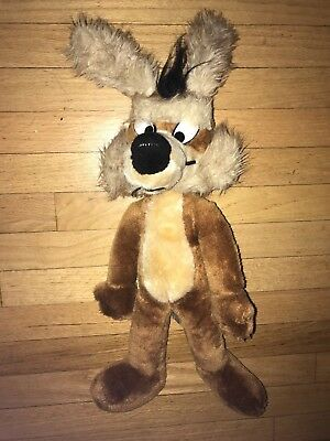 "Vintage Warner Bros. Mighty Star 18"" Plush WILE E COYOTE Stuffed Animal"