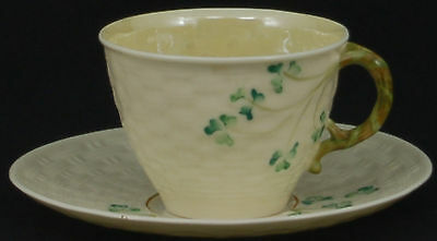 Belleek Shamrock Cup and Saucer