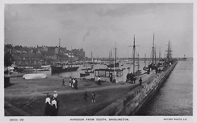 Bridlington - harbour with sailing ships
