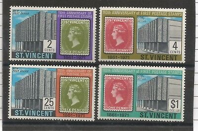 One Penny Arcade A Nice St.Vincent 1970 First Stamps Mint set