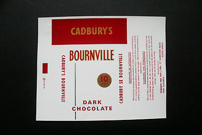 BOURNEVILLE 10c - 1960's NESTLE SOUTH AFRICA Chocolate Candy Bar Wrapper