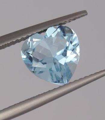 **3.2Ct Loose Natural Topaz Heart Cut Gemstone (17795)***
