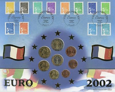 France 2002 Benham Euro Coin & Stamps Set Numismatic FDC