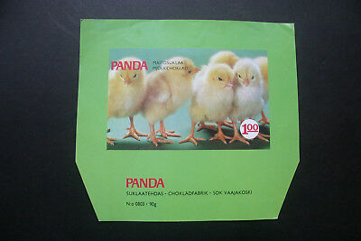 EASTER CHICKS - 1970's PANDA FINLAND Chocolate Candy Bar Wrapper