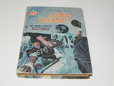Vintage Book NFL.. Throw the Long Bomb by Jack Laflin  1967