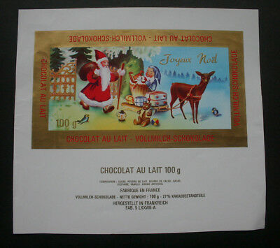 JOYEUX NOEL - 1960's FRANCE Chocolate Candy Bar Wrapper